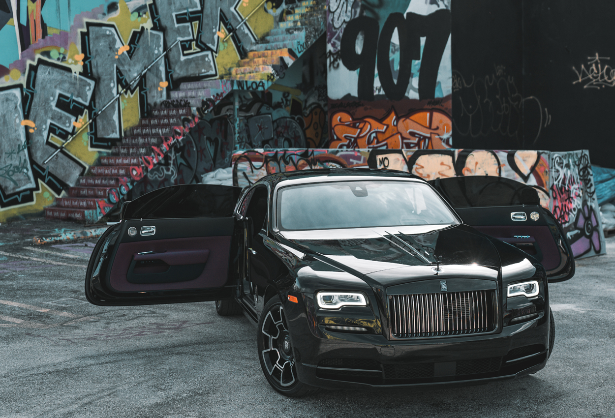 Rolls Royce Wraith Black Badge Hot Car Rentals